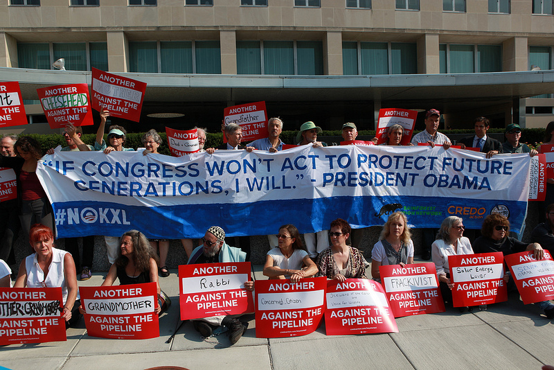 Sixty Activists Risk Arrest at State Department in Protest of the Keystone XL Pipeline