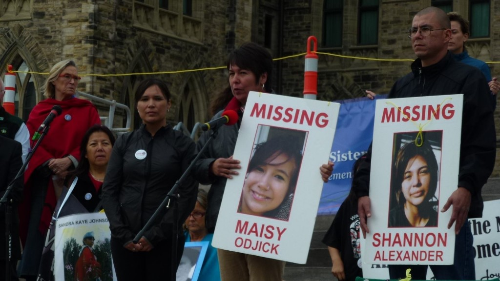 Shannon Alexander and Maisy Odjick are two of the more than 1200 missing or murdered Aboriginal women in Canada today. (Photo: OBERT MADONDO/The Canadian Progressive)