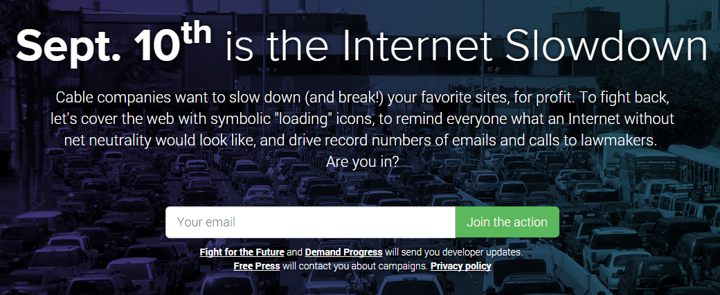 The Canadian Progressive Joins Global Net Neutrality Protest