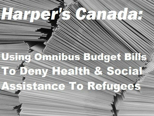 With omnibus Bill C-43, Conservative government going after most vulnerable yet again