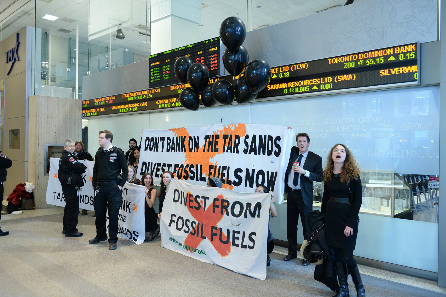 Canadian Climate Activists Storm Toronto Stock Exchange, Demand Fossil Fuel Divestment