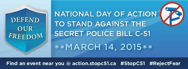 Tens of thousands expected to protest Harper's Bill C-51 today